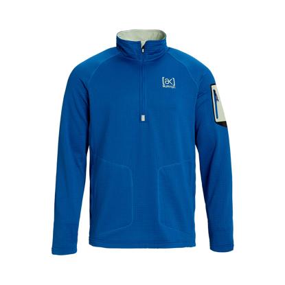 BURTON AK GRID HALF ZIP CLASSIC BLUE L