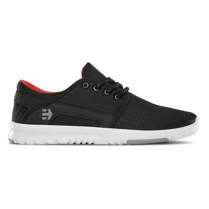 ETNIES SCOUT W BLK/GRY/RED 10