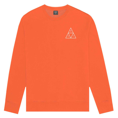 PULOVER HUF ESSENTIALS TT CR MANDARIN RED M