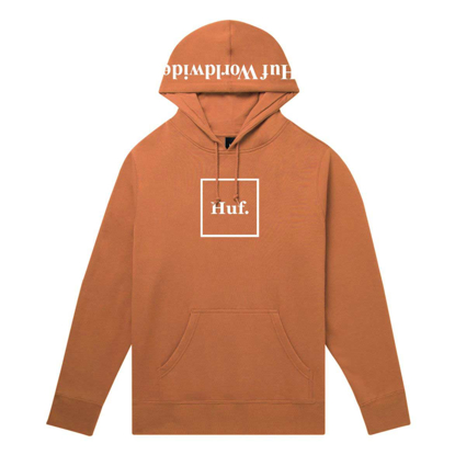 PULOVER HUF ESSENTIALS BOX LOGO HO RUST S
