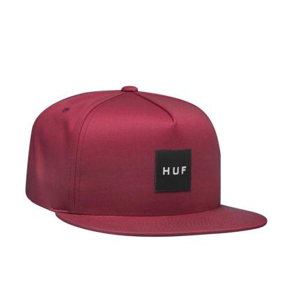 HUF ESSENTIALS BOX SNAPBACK ROSE WOOD RED UNI