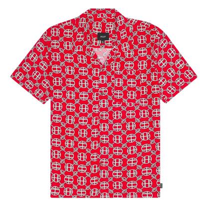 HUF ATELIER RESORT S/S RED XL