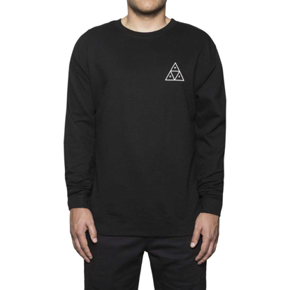 PULOVER HUF ESSENTIALS TT CR BLK S
