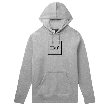 PULOVER HUF ESSENTIALS BOX LOGO HO GREY HEATHER S