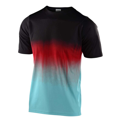TLD JERSEY KID SKYLINE S/S STAIN'D BLK/TURQUOISE XS