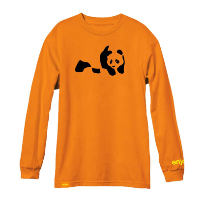 MAJICA ENJ PANDA L/S ORANGE S