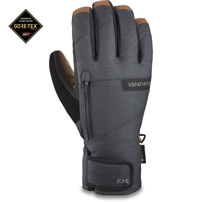 ROKAVICE DK 21 LEATHER TITAN GORE-TEX SHORT GLOVE CARBON L