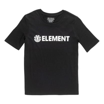 ELEMENT ELEMENT LOGO S/S W BLK M