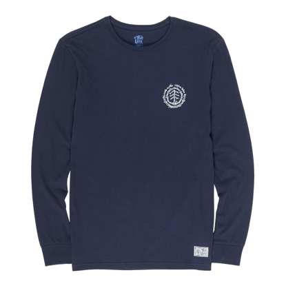 ELEMENT TOO LATE LOGO L/S ECLIPSE NAVY M