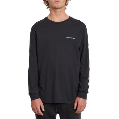 VOLCOM FENCE BSC L/S BLK S