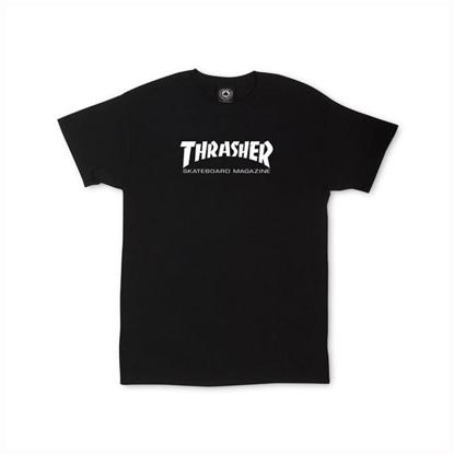 THRASHER MAGAZINE SKATE MAG S/S KID BLK L