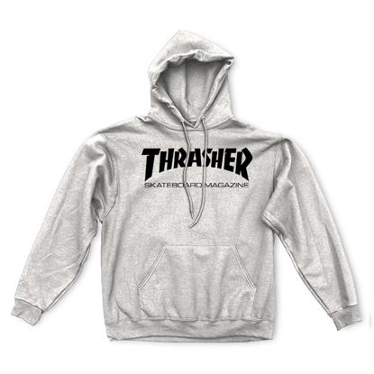THRASHER MAGAZINE SKATE MAG HOOD PULLOVER GREY XL