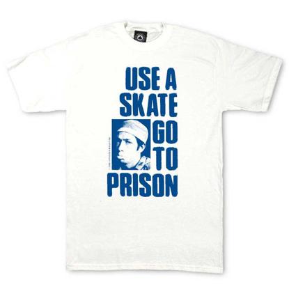 MAJICA THR USE A SKATE GO TO PRISON S/S WHT M