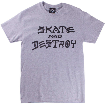 THRASHER MAGAZINE SKATE AND DESTROY S/S GRY M