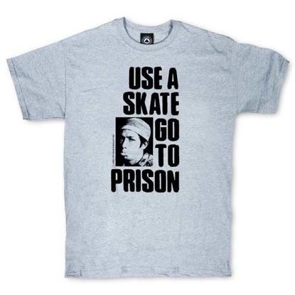 THRASHER MAGAZINE USE A SKATE GO TO PRISON S/S GRY S