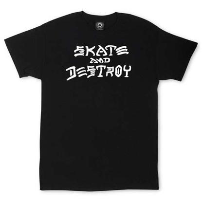 THRASHER MAGAZINE SKATE AND DESTROY S/S BLK M
