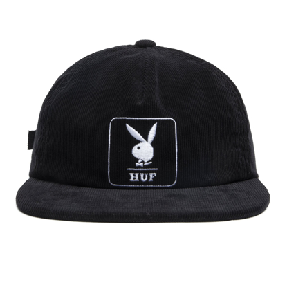 KAPA HUF PLAYBOY CORDUROY 5 PANEL BLACK