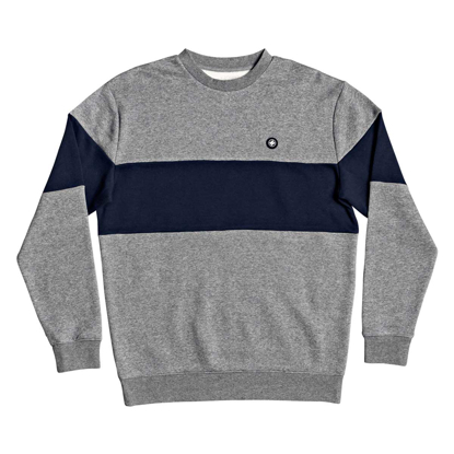 PULOVER DC RIOT COLORBLOCK CR MEDIUM GREY HEATHER M