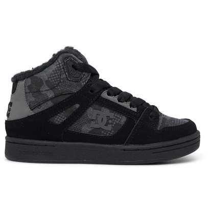 DC PURE HIGH-TOP WNT BLK CAMOUFLAGE 5K