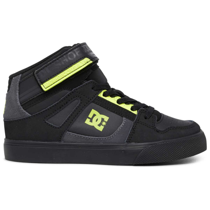 SP COP DC KID PURE HIGH-TOP EV BLK/BLK/YELLOW 10,5K