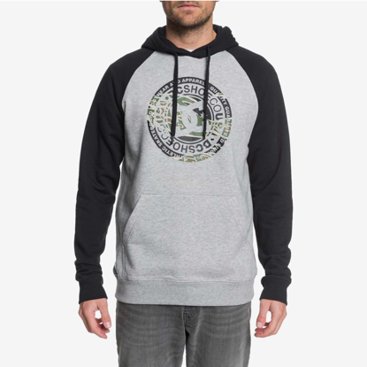 PULOVER DC CIRCLE STAR HO GREY HEATHER/BLK S