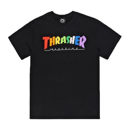 THRASHER MAGAZINE RAINBOW MAG BLACK XL