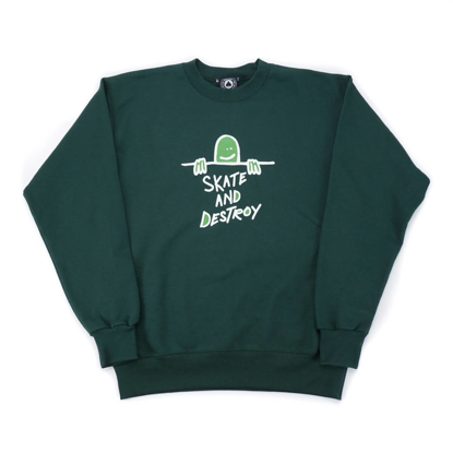 PULOVER THR GONZ SAD LOGO CR FOREST GREEN M