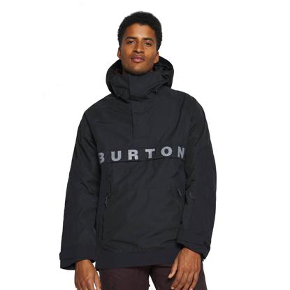 BURTON FROSTNER ANORAK TRUE BLACK S