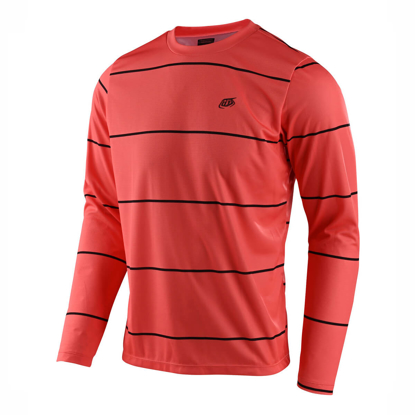 JERSEY TLD FLOWLINE LS STACKED CORAL S
