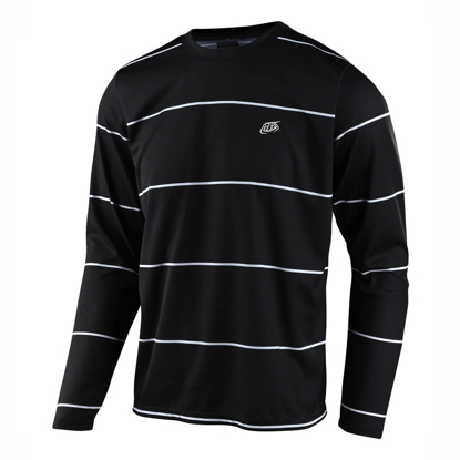 JERSEY TLD FLOWLINE LS STACKED BLK S