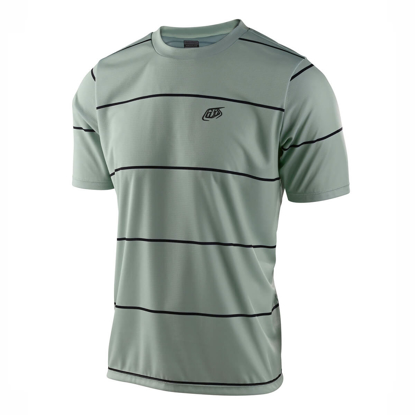 JERSEY TLD FLOWLINE SS STACKED SMOKE GREEN S