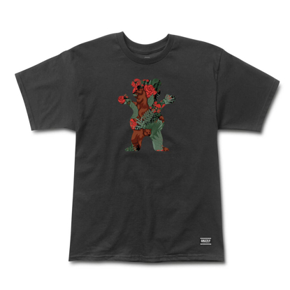 GRIZZLY GRIPTAPE ROSE GARDEN BEAR T-SHIRT BLACK L