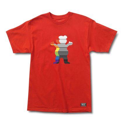 GRIZZLY GRIPTAPE PRISM BEAR T-SHIRT RED S