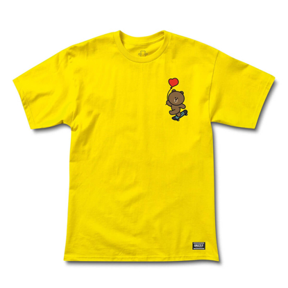 GRIZZLY GRIPTAPE FLOAT ON  T-SHIRT YELLOW S