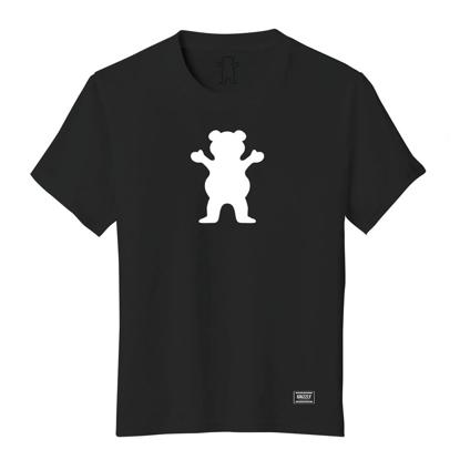 GRIZZLY GRIPTAPE OG BEAR T-SHIRT BLACK/WHITE XL
