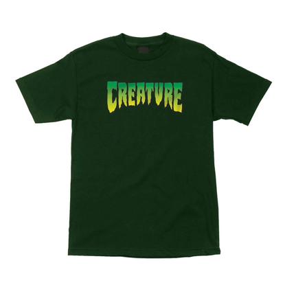 CREATURE CREATURE LOGO T-SHIRT FOREST GREEN XL