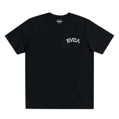 RVCA BACK IN PARADIZE T-SHIRT PIRATE BLACK M