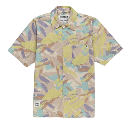 ELEMENT CABOURN SUMMER SHIRT ABSTRACT CAMO S