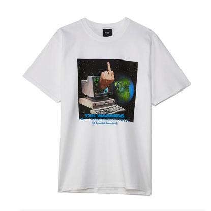 HUF Y2K DAY S/S T-SHIRT WHITE XL