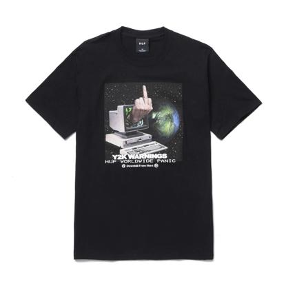 HUF Y2K DAY S/S T-SHIRT BLACK XL