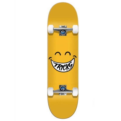 "TRICKS SKATEBOARDS SMILEY 7.375"" COMPLETE ASSORTED 7.375""X31.48"""