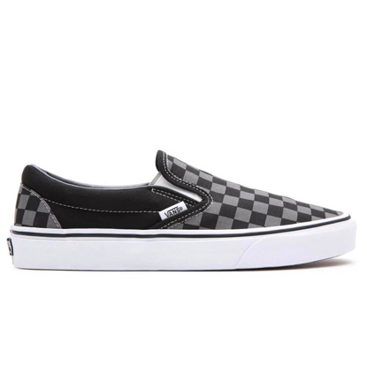 VANS CLASSIC SLIP-ON W BLK/PEWTER CH 8
