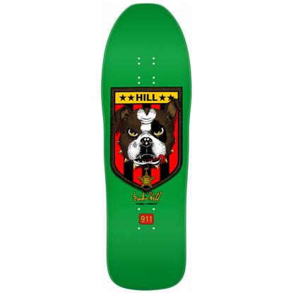"POWELL FRANKIE HILL BULL DOG 10.0 GREEN DECK SHAPE 167 K15 GREEN 10.0"""