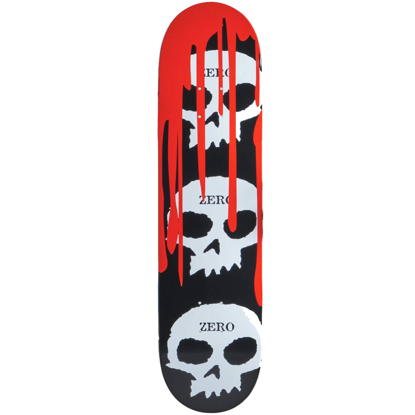 ZERO 3 SKULL BLOOD 2 DYED VENEERS TOP MID BLACK/WHITE/RED 8 DECK BLACK/WHITE/RED 8.0
