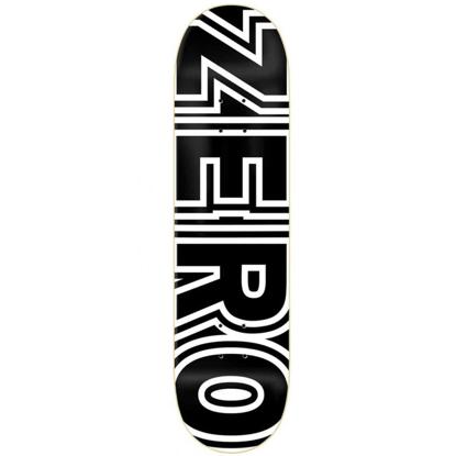 ZERO BOLD 2 DYED VENEERS TOP MID BLACK/WHITE 7.75 DECK BLACK/WHITE 7.75