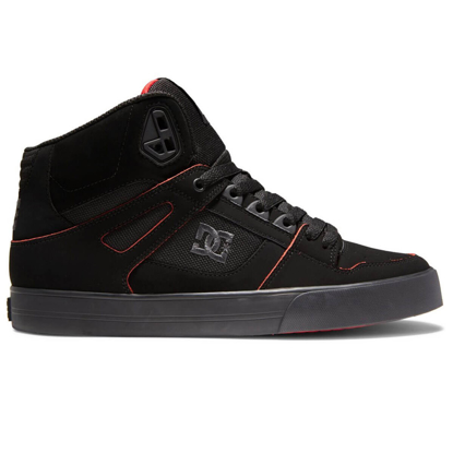 DC PURE HIGH-TOP WC BLACK/RED/WHITE 7,5