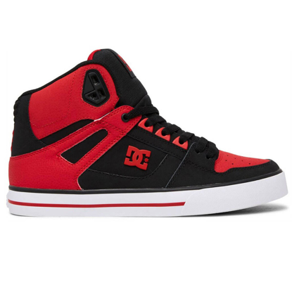 DC PURE HIGH-TOP WC FIERY RED/WHITE/BLACK 7,5
