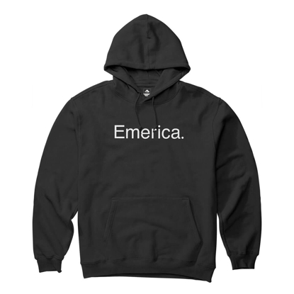 EMERICA PURE LOGO HOODIE BLACK M